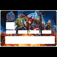 Sticker pour carte bancaire, The Avengers