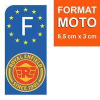1 sticker pour plaque d'immatriculation MOTO, Royal enfield