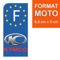 1 sticker pour plaque d'immatriculation MOTO, Kymco