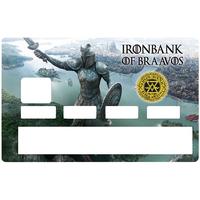 Sticker pour carte bancaire, hommage à IRONBANK of BRAAVOS - Game of Thrones, Edition limitée 300 ex.