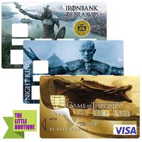 les 3 Stickers pour carte bancaire, Game of Thrones, Edition limitée 300 ex.