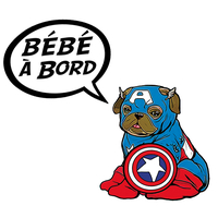 Sticker Bébé à bord ! Captain Americarlin