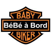 Sticker Bébé à bord ! baby biker HD
