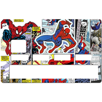 Sticker pour carte bancaire, hommage à SPIDER-MAN