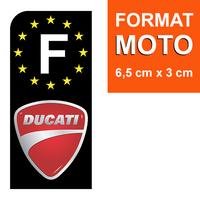 1 sticker pour plaque d'immatriculation MOTO, F - NOIR - DUCATI