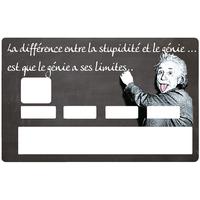Sticker pour carte bancaire, hommage à Albert Einstein, le genie