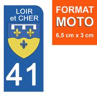 1 sticker pour plaque d'immatriculation MOTO , 41 LOIR et CHER