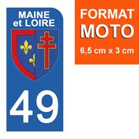1 sticker pour plaque d'immatriculation MOTO , 49 MAINE et LOIRE