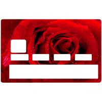 Sticker pour carte bancaire, la rose rouge