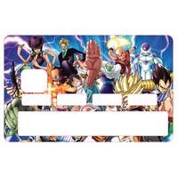 Stickers, autocollant pour carte bancaire - Manga Family