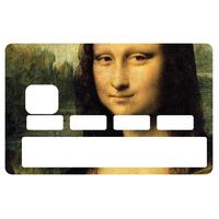 Stickers décoratif pour carte bancaire, La Joconde