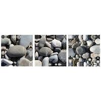 Tryptique, Les galets des plages Niçoises, 50 cm x 50 cm