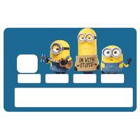 Sticker pour carte bancaire, Minions Stupides