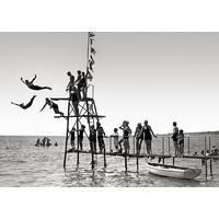 Impression photo sur toile rect. , Les plongeurs de nice en 1910