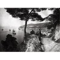 Impression photo sur toile, La rade de Villefranche, vers 1900