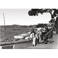 Impression photo sur toile, les élegantes à Juan les pins vers 1930