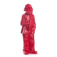 Sculpture Karl Marx, signal red de Ottmar Hörl