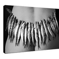 Impression photo sur toile, sardines aux fesses, par la photographe Sylwia bernat