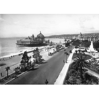 Impression photo sur toile, Nice, le casino du de la jetée promenade vers 1920