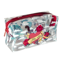 Trousse rectangulaire tatoo transparente