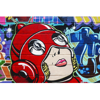 Impression photo sur toile - Graffiti Girl