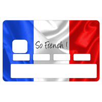 Sticker pour carte bancaire, So French!