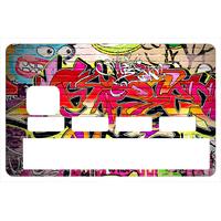 Stickers décoratif pour carte bancaire, Graffiti Wall 2016- crée par le DgedeNice