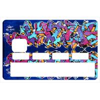 Stickers décoratif pour carte bancaire, Graffiti Wall miror 2016 , crée par le DgedeNice