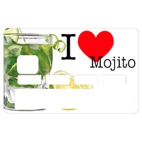 Sticker pour carte bancaire, I Love MOJITO