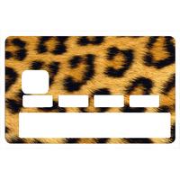Stickers décoratif pour carte bancaire, Leopard
