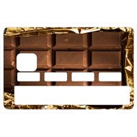 Stickers décoratif pour carte bancaire, Tablette de chocolat