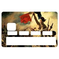 Stickers décoratif pour carte bancaire, Liberté, egalité, fraternité
