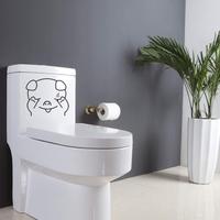 Sticker décoratif pour toilette, Petit cochon