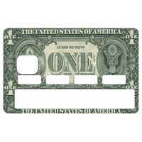 Stickers décoratif pour carte bancaire, ONE DOLLAR , crée par le DgedeNice