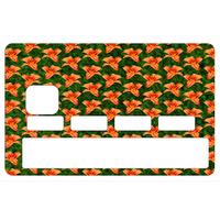 Stickers décoratif pour carte bancaire, Fleurs orange