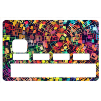 Stickers décoratif pour carte bancaire, Rectangle Color  , crée par le DgedeNice
