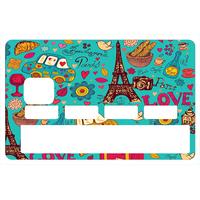 Stickers décoratif pour carte bancaire, Paris sera toujours Paris , crée par le DgedeNice
