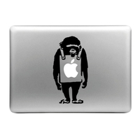 Sticker pour MacBook, singe sandwich