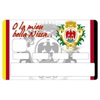 Stickers décoratif pour carte bancaire, Nice , crée par le DgedeNice