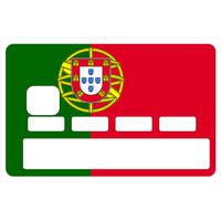 Stickers décoratif pour carte bancaire, Drapeau du Portugal