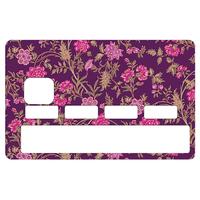 Stickers décoratif pour carte bancaire, Fleurette