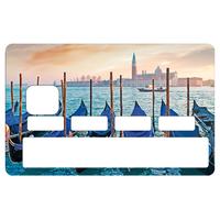 Sticker pour carte bancaire, Les gondoles a Venise