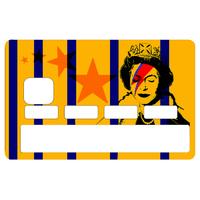 Stickers décoratif pour carte bancaire, Bowie Vs Banksy , crée par le DgedeNice