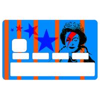 Stickers décoratif pour carte bancaire, Bowie Vs Banksy Vs Elisabeth , crée par le DgedeNice
