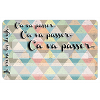 Stickers CB, decoratif, pour carte bancaire, Ca va passer mosaique -  crée par le DgedeNice