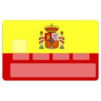 Stickers décoratif pour carte bancaire, ESPAGNE