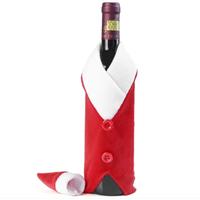 Décoration de Noël pour bouteille de vin , Pére Noël