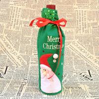 Décoration de Noël pour bouteille de vin , Merry Christmas