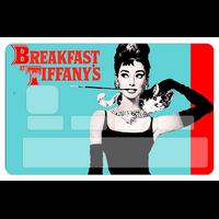 Stickers décoratif pour carte bancaire, Audrey Hepburn, par le DgedeNice