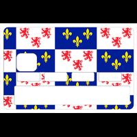 Sticker pour carte bancaire, la Picardie